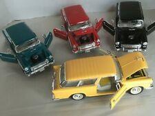 1955 CHEVY BELAIR NOMAD Die cast 1:24 BOX OF 4 Wholesale LOT Retired  Models