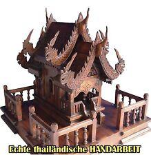 DAS ORIGINAL-Teak braunes Geisterhaus,Holz Geisterhaus,mit Stellplatz,Thailand