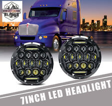 "DOT Approved  7"" LED Hi/Lo Headlights Projector Headlamp For Kenworth T2000 T609"