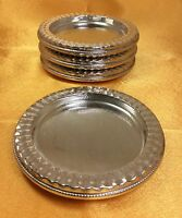 Rare Crest Silver Co Vintage/Antique Sterling Silver Set Of 4 Weighted Coasters