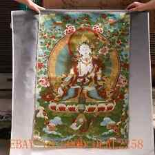 Tibetan Nepal Silk Embroidered thangka Tara Tibet Buddha -- White Tara  gd9189