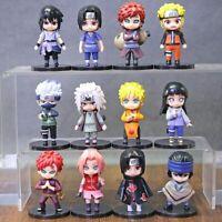 Set Naruto Shippuden Hinata Sasuke Itachi Kakashi Gaara Action Figures Dolls