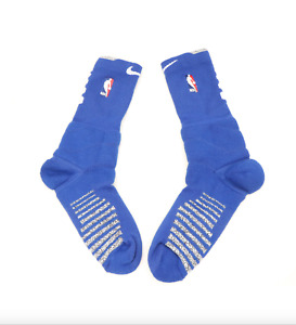 New Nike XL NBA Authentics Team Issued Detroit Pistons Crew Socks Blue Gray