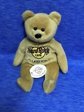 "Hard Rock Cafe Ft Lauderdale Bear Plush 8"" Stuffed Animal Isaac Beara Brown"