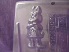Easter Girl Bunny holding flower lollipop chocolate candy molds