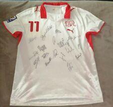 SWITZERLAND MATCH WORN SIGNED HOME FOOTBALL SHIRT 2008-2010 ADULT XL WORLD CUP