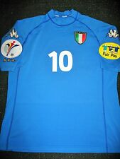 Authentic Italy Kappa Del Piero Jersey 2000 EURO CUP Shirt Juventus Maglia