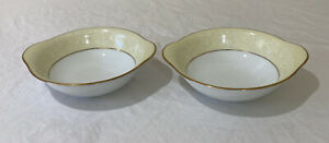 """Noritake """"Annulaire"""" Lugged Cereal Bowls Set Of 2 # 6689 Made in Japan"""