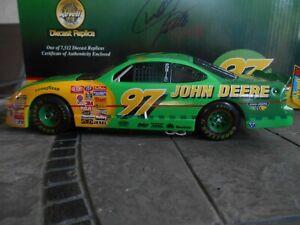 #23 Chad Little John Deere 1997 Pontiac, AUTOGRAPHED box Revell 1/24 Bank Set