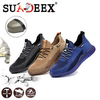 Mens Indestructible Steel Toe Cap Work Shoes Safety Sports Hiking Shoes Sneakers