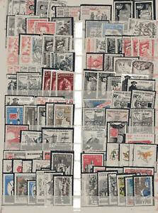 COLOMBIA, 110 AIR STAMPS LOT, HIGH VALUE CATALOGUE
