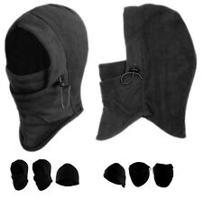 TWO Winter Thermal Fleece Balaclava Full Face Ski Mask Motorcycle Hat Cap Unisex