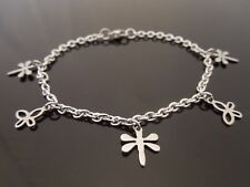 3mm Stainless Steel Charm Bracelet Or Ankle Chain Anklet ~ Dragonfly & Butterfly