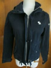 Abercrombie & Fitch navy cotton boys zip out coat jacket size Medium