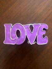 Love Bold Letter Pink Lettering Lovely Heart Classy Metal Women's Belt Buckle