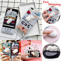 Iphone 6 Plus Case 3d 6s 7 Finger Lovely Cover Pinch X Cat 8 Squishy 5 Shell For