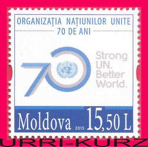 MOLDOVA 2015 ONU UNO UN 70th Anniversary 1v Sc885 Mi931 MNH