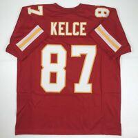 New TRAVIS KELCE Kansas City Red Custom Stitched Football Jersey Size Men's XL