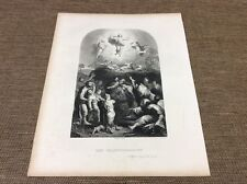 RELIGION The Transfiguration from the Painting - Antique Print