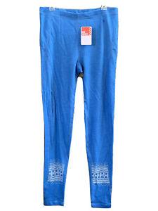 HH Helly Hansen Womens XL Blue Thermal Warm Pants Base Layer Wool Polypropylene