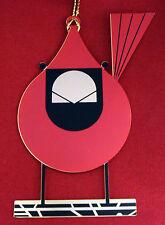 Charlie/ Charley Harper- Brass Christmas Ornament - CARDINAL CLOSEUP - bird art