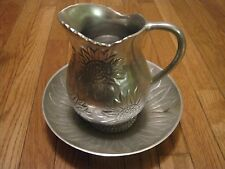 Vintage Sunflower Heavy Aluminum Bowl and Pitcher Exclusively for FPD India