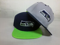 Seattle Seahawks Snap Back Cap Hat SEA Embroidered Adjustable Flat Bill