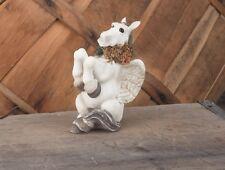 Pegasus Figurine-Cute Pegasus Flying Horse Sitting Up #3831