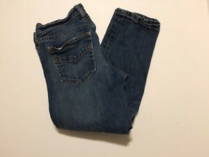 Gap Women's Jeans Size 4A Blue Capri Straight Leg