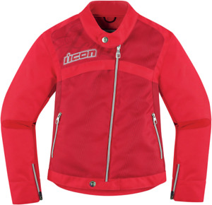 Icon Hella 2 Womens Red 2XL Textile Motorcycle Riding Street Racing Jacket