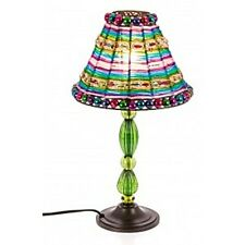 NEW UNIQUE SHABBY CHIC COLORFUL BEADED TABLE BEDSIDE LAMP LIGHT GREEN OP74