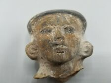 "4"" CIRCA 500AD PRE-COLUMBIAN MAYAN HOLLOW POTTERY HEAD TERRACOTTA OLMEC TOLTEC"