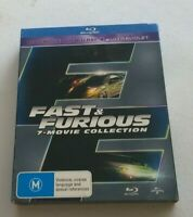 LIKE NEW FAST AND FURIOUS 7 MOVIE COLLECTION  BLU RAY AUSTRALIAN RELEASE