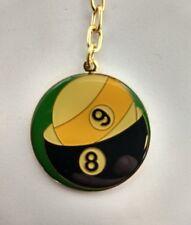 Pool Ball Key Chain - Goldtone Trim