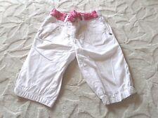Pantacourt  D'été , Fille , Blanc/Rose , 18 MOIS , Marque Tape à L'oeil , TTBE