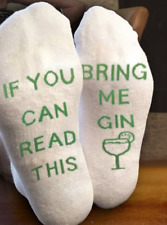 Funny Socks 'If You Can Read This Bring Me Gin' Socks UK Seller First Class