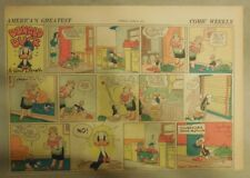 Donald Duck Sunday Page by Walt Disney from 6/8/1941 Half Page Size