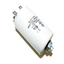 AIR COMPRESSOR - PLASTIC ROUND RUN CAPACITOR 8µF / 8UF 400-500V 4 TERMINALS