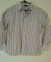 J Crew mens shirt size Large multicolor stripe long sleeve  16 1/2