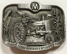IH International Farmall M Tractor 1989 Belt Buckle 50th Anniversary 3419/5000