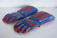 Scott Brand USA Vintage Snowmobile Gloves Ski Doo Leather Gauntlet Gloves