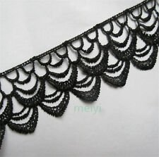 1 yds Black Lace Edge Trim Ribbon Wedding Bridal Dress DIY Applique Sewing Craft