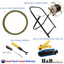 Telstra NBN Tools / HFC Rg6 Torque Wrench PCD Key Cable Caddy Compression Tools
