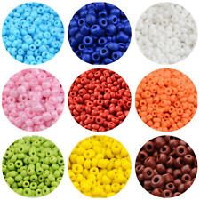 Multicolor Beading Glass Beads 2/3/4mm Small Opaque Pony Round Beads Supplies