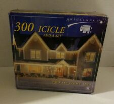 Brilliance 300 Icicle Add a Set Christmas Lights - New in Box