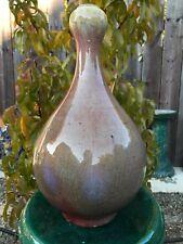 Estate Old Chinese Qing Qianlong Oxblood Red Porcelain Garlic Vase Asian China