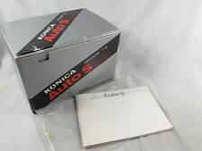 INSTRUCTION MANUAL AND BOX FOR KONICA AUTO S 1/.6 HEXANON