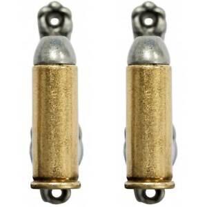 2er Set Wandhalter 45er Colt Patronen gold-silber