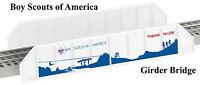 LIONEL Boy Scouts of America Girder Bridge o gauge train  6-37129  NIB NR bt ah