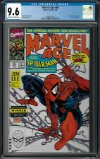 Marvel Age # 90 CGC 9.6 ow/wp early McFarlane spiderman cover